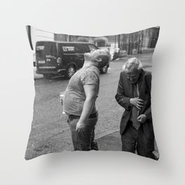 Spud In The Rain Throw Pillow
