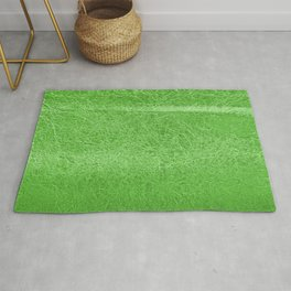 Crinkled Green Foil Texture Christmas/ Holiday Rug