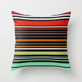 Simple striped pattern, simple, striped, stripes Throw Pillow