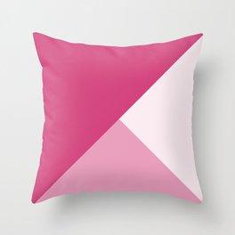 Trinity Color Block Magenta D23C77 Throw Pillow