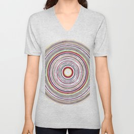 Colorful Circles Pattern Unisex V-Neck