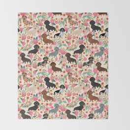 Dachshund floral dog breed pet patterns doxie dachsie gifts must haves Decke