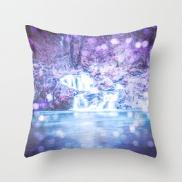 Mermaid Waterfall Throw Pillow