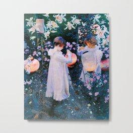 John Singer Sargent - Carnation, Lily, Lily, Rose Metal Print
