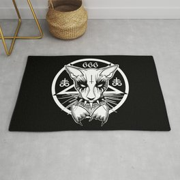Black Metal Cat Rug