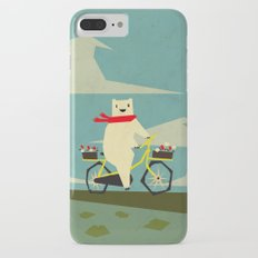Yeti Taking a Ride iPhone 8 Plus Slim Case