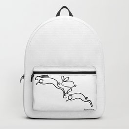 Rabbits Line Drawing, Animals Sketch Artwork, Pablo Picasso, Tshirts, Prints, Posters, Bags, Women, Backpack