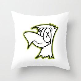 Lucian green Throw Pillow