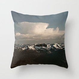 Alaska Snow Capped Mountains Throw Pillow