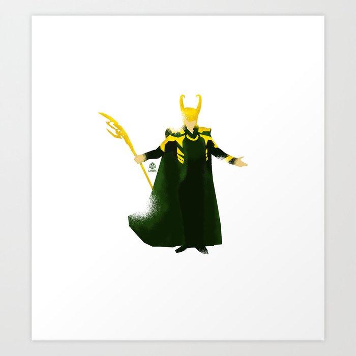Loki Minimalist Poster Art Print By Loweakgraph Society6