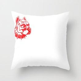 Mens Proud Pitbull Dad red Throw Pillow