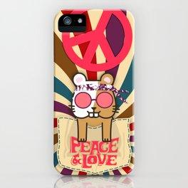 Hippie Hamster iPhone Case