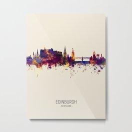 Edinburgh Scotland Skyline Metal Print