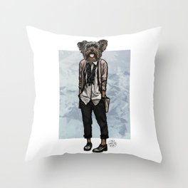 Charlotte Yorkie Throw Pillow