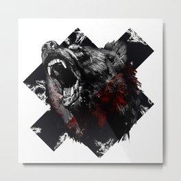 Angry Bear Metal Print