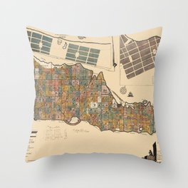 Map Of St. Croix 1767 Throw Pillow