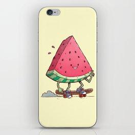 Watermelon Slice Skater iPhone Skin