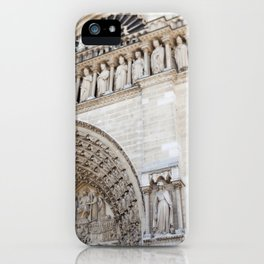 Notre Dame Detail - travel photography iPhone Case