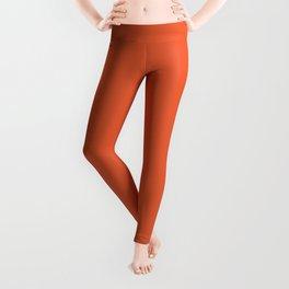 Burnt Orange Solid Leggings