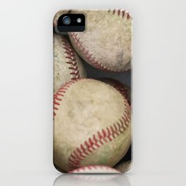 Many Baseballs - Background pattern Sports Illustration iPhone Case