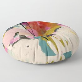 paysage abstract Floor Pillow
