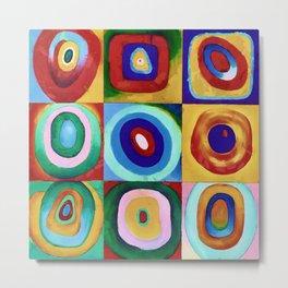 Colorful circles tile Metal Print