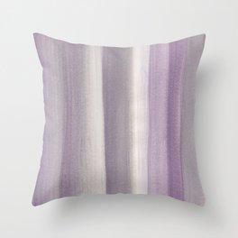 Purple Gray Watercolor Dream #1 #painting #decor #art #society6 Throw Pillow