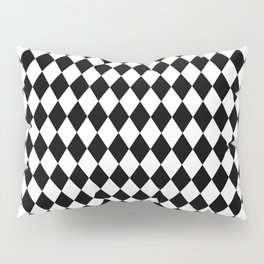 Classic Black and White Harlequin Diamond Check Pillow Sham