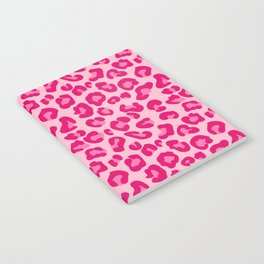 Leopard Print in Pastel Pink, Hot Pink and Fuchsia Notebook