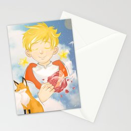 The Little Prince and the Fox Stationery Cards