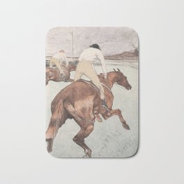 """Henri de Toulouse-Lautrec """"Le Jockey"""" Bath Mat"""
