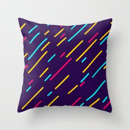 Neon Lines Throw Pillow