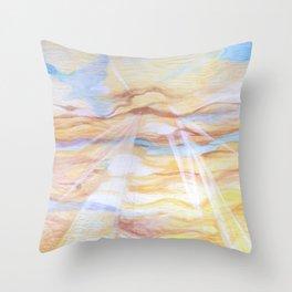 Sun Salutation Throw Pillow