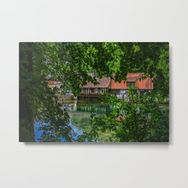 View to the old hammer mill Metal Print