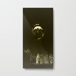 FACE DOG IN FOREST SKY Metal Print