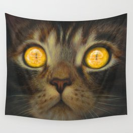 Button Pusher (atomic bomb kitty) Wall Tapestry