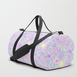 Pastel Planets Doodle Duffle Bag