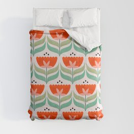 Retro Tulips Pattern Comforters