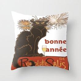 Bonne Annee Happy New Year Parody Throw Pillow