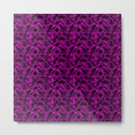 Stylish design with rotating circles and violet rectangles from dark stripes. Metal Print