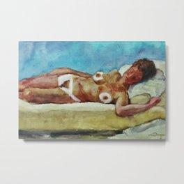 Nude figure in Interior (Arrondissement Left Bank, Paris 17) by Kees Van Dongen Metal Print