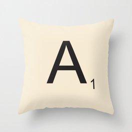 Scrabble A Throw Pillow
