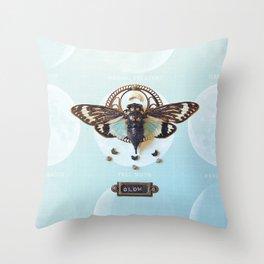 moon cicada Throw Pillow