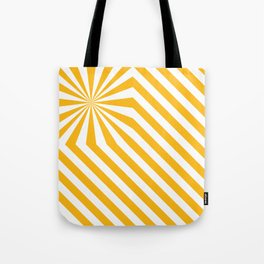 Stripes explosion - Yellow Tote Bag