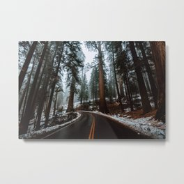 Foggy Forest Wanderlust Metal Print