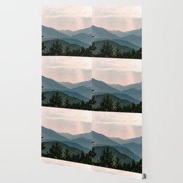 Smoky Mountain Pastel Sunset Wallpaper