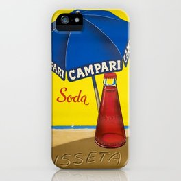 Vintage 1950 Campari Bitters Aperitif Lugano Advertisement by Traub iPhone Case
