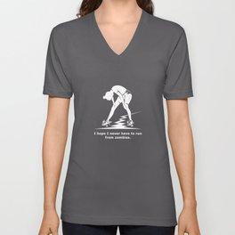Running from Zombies Unisex V-Neck