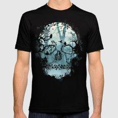 Dark Forest Skull Black MEDIUM Mens Fitted Tee