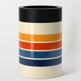 Classic Retro Stripes Can Cooler